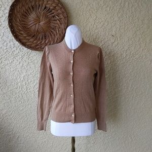 J crew  cardigan sweater with under shirt